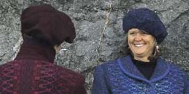 berets in wool or cotton chenille match our sweaters and coats
